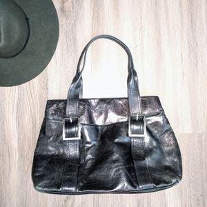 Kenneth Cole New York Black Leather Shoulder Bag